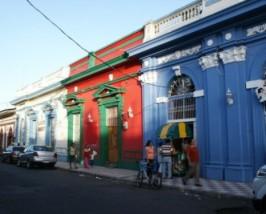 Bunte Häuserfront