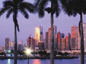 Blick auf die Skylline von Panama City