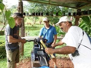 Auch Zuckerrohr wächst auf der Farm von Don Rodolfo