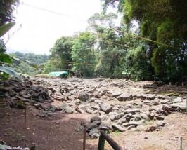 Der Blick auf das Guayabo Nationalmonument