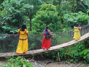 Mitglieder der Guayami Gemeinschaft