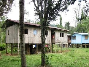 Die Häuser der Bribri