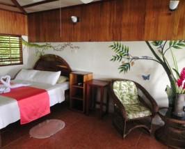Das komfortable Zimmer in der Drake Bay