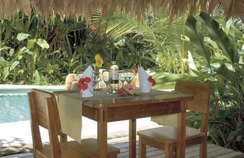 Frühstücksterasse Ihrer Unterkunft an der Karibikküste