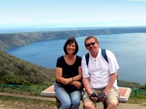 Aussichtpunkt Catarina mit der Laguna de Apoyo im Hintergrund