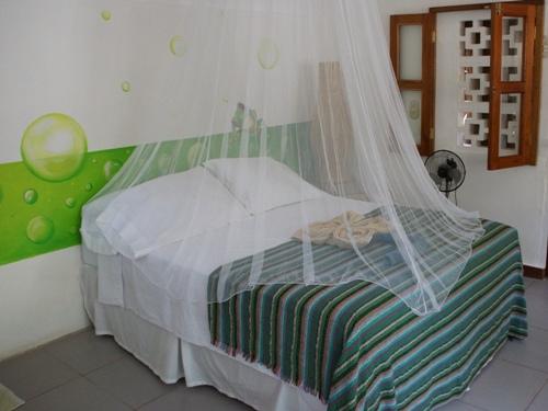 Das freundliche Zimmer der Unterkunft