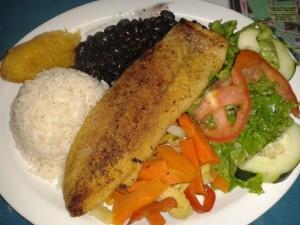 Typisch costaricanische Mahlzeit