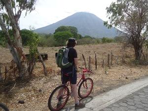 Reisender mit dem Fahrrad