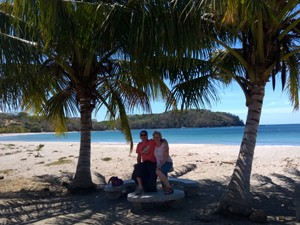 Unter Palmen an der Pazifikküste