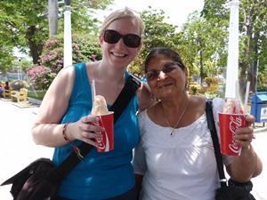 "Leckere Erfrischung im Park in Matagalpa: ""Raspado"""
