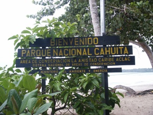 Eingang Cahuita Nationalpark