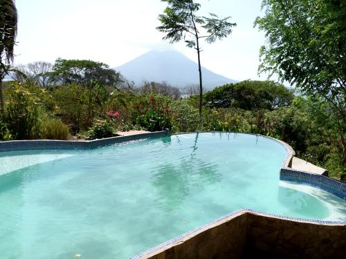 Die spektakuläre Aussicht vom Pool