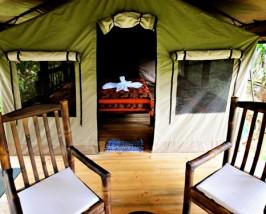 Das luxuriöse Safarizelt