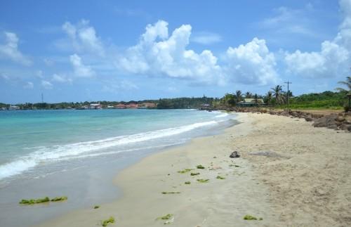 Der Strand auf den Corn Islands