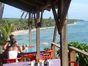 Terrasse mit Blick übers Meer - Big Corn Island