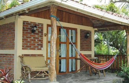 Veranda der Unterkunft in Ometepe