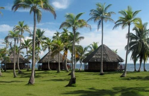 Schöne Lage der Cabanas