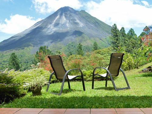Ausblick der Veranda am Vulkan Arenal