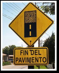 Straßenschild in Costa Rica