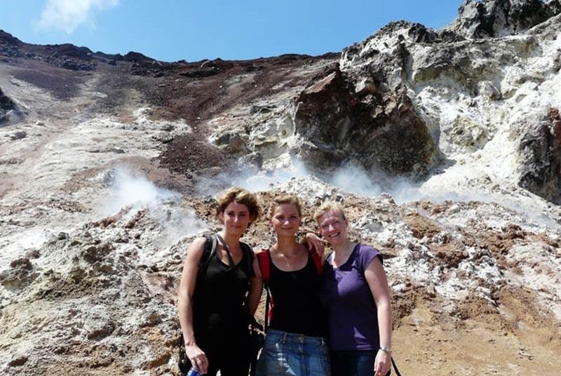 Erinnerungsfoto am am Cerro Negro