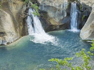 Blick auf den Wasserfall