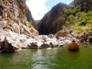 Boot im Canyon von Somoto