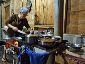 Abendessen beim Homestay in Rivas