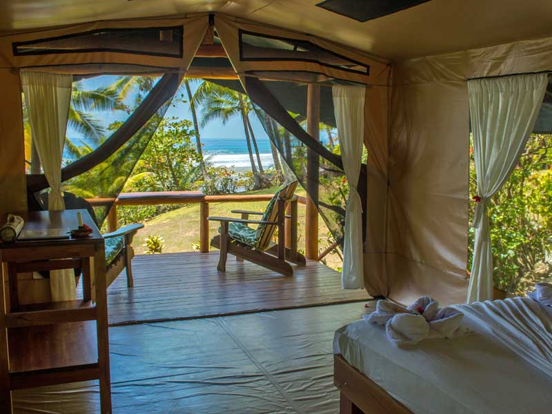 Komfortables Zelt am Corcovado Nationalpark in Costa Rica
