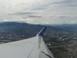 Unterwegs im Flugzeug