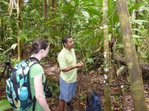 Guide erklärt Reisenden Flora und Fauna