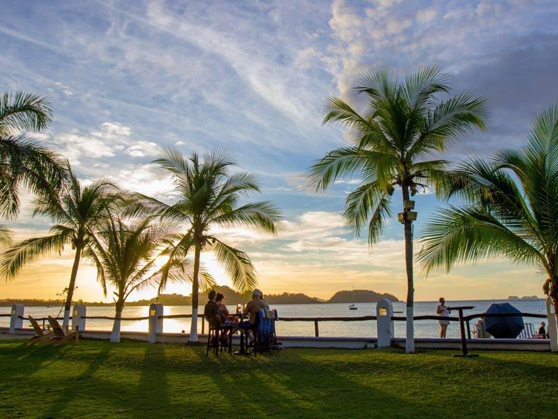 Costa Rica Pazifikküste Potrero Hotelgarten