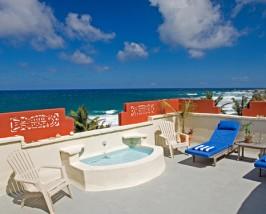 Pool der Standardunterkunft auf Barbados