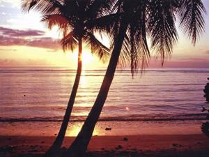 Sonnenuntergang auf Reisen zu den Grenadinen