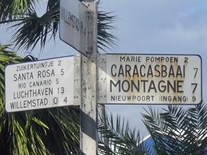 Straßenschild auf Curacao