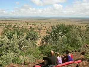 kenia private camp uitzicht