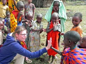 Masai Kenia dorp kindjes