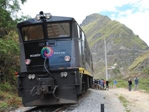 Ecuador reis Alausi trein