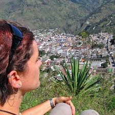 uitzicht Ecuador reis Baños