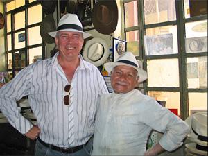 otovalo bezoek hoeden fabriek Ecuador