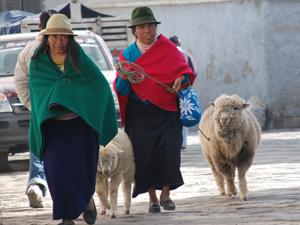 Ecuador reis Guamote dorp