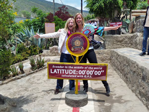 op de evenaar - Ecuador reis Quito