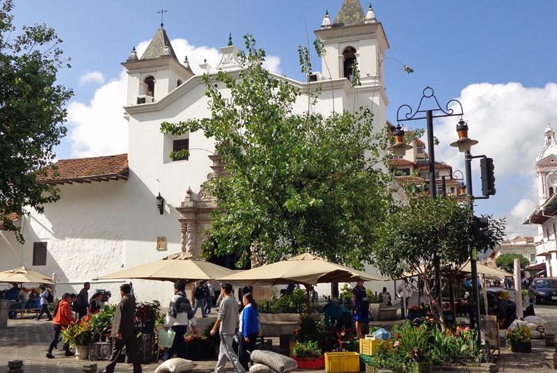 Ecuador reis - markt