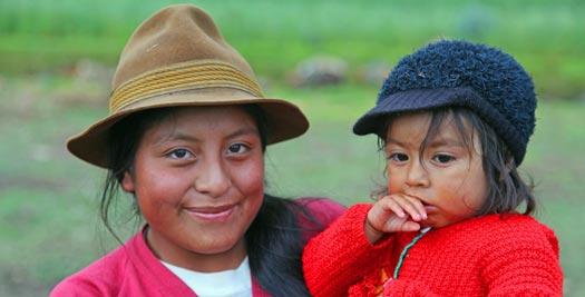 Ecuador reis - moeder met kind