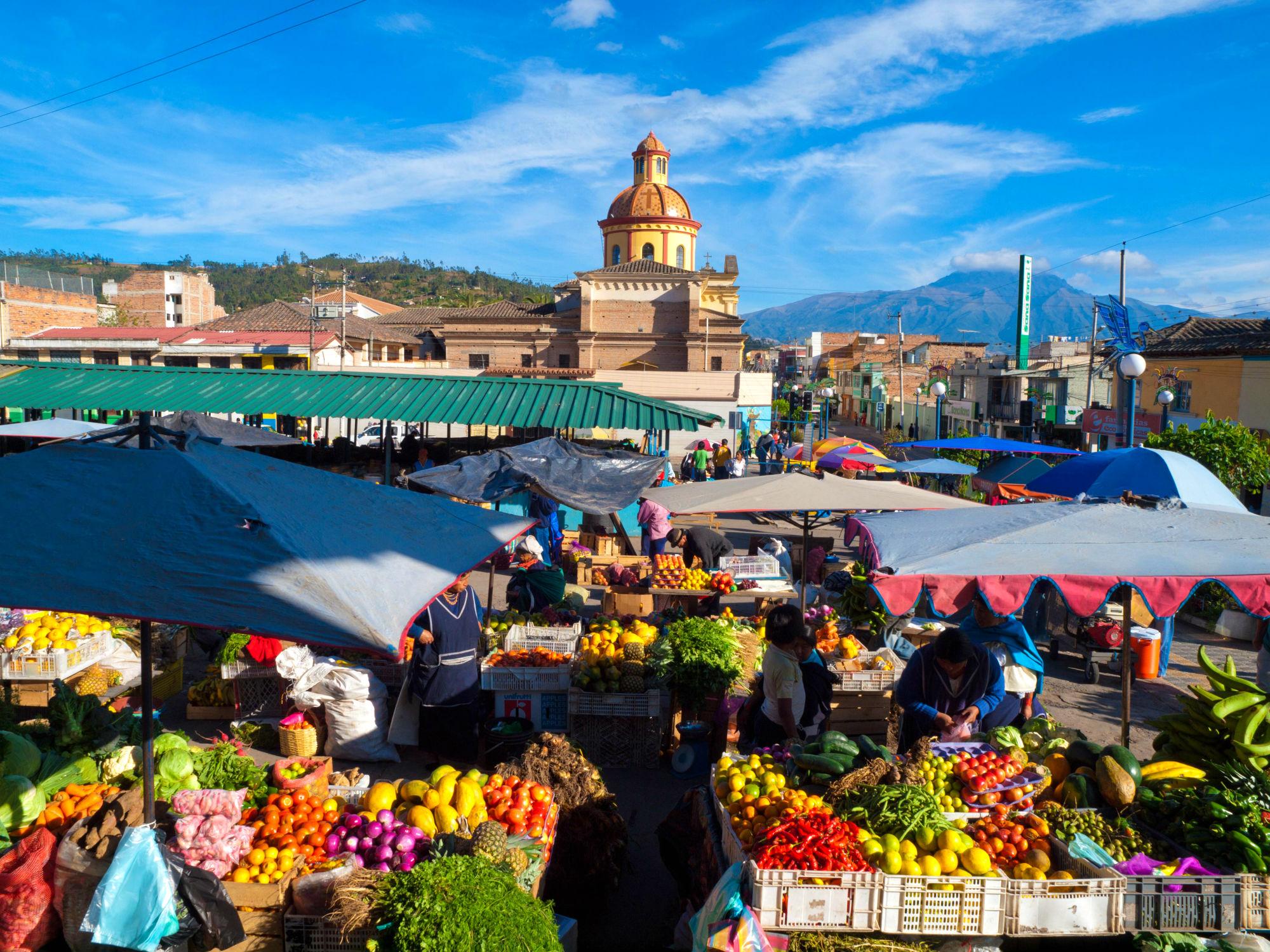 Rondreis Ecuador - markt