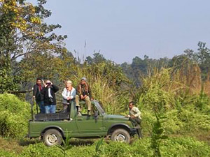 chitwan national park jeep