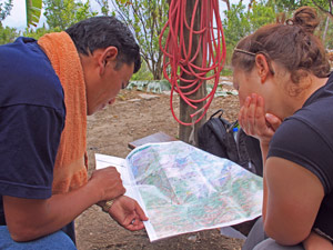 annapurna trekking - community kaart reistijd