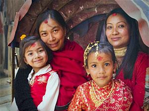 locals nepal vrouw