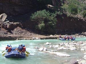 nepal raften trisuli rivier
