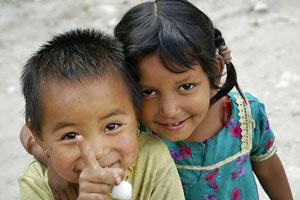 nepal reis bandipur kindjes