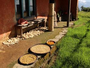 nepal reis helambu dorp